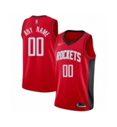 Youth Houston Rockets Customized Swingman Red Finished Basketball Jersey - Icon Edition