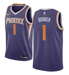 Men s Nike Phoenix Suns  1 Devin Booker Swingman Purple Road NBA Jersey -  Icon Edition 4353b1e74