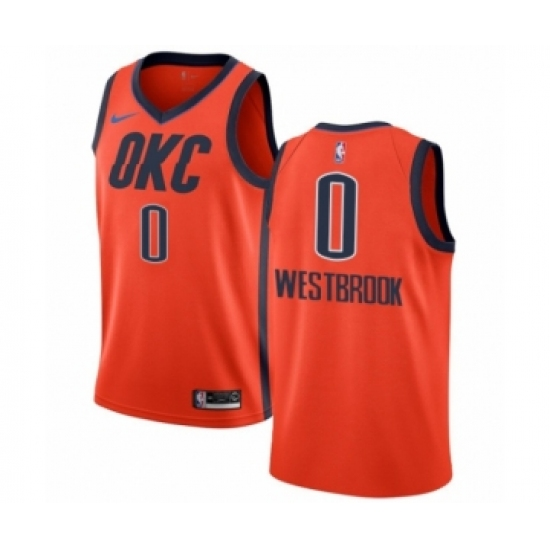 9db0a7b9f7f Youth Nike Oklahoma City Thunder #0 Russell Westbrook Orange Swingman Jersey  - Earned Edition