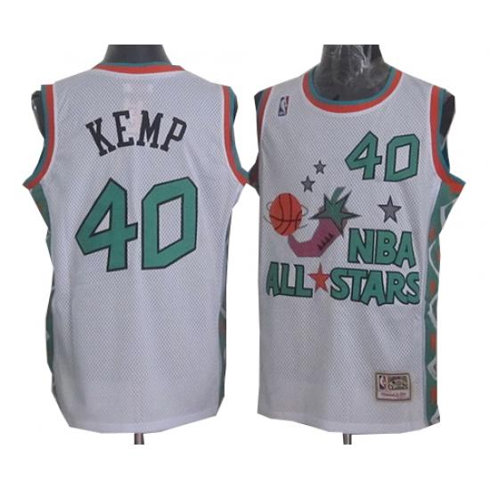 detailed look 017a3 e86ed Men's Mitchell and Ness Oklahoma City Thunder #40 Shawn Kemp ...