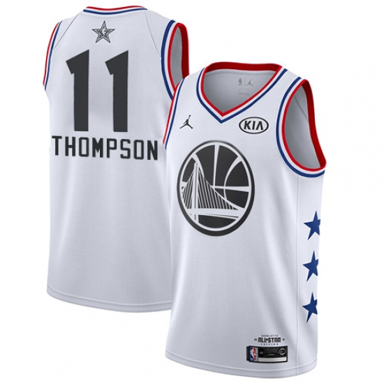 Men s Nike Golden State Warriors  11 Klay Thompson White NBA Jordan Swingman  2019 All- 603b8aeae