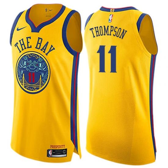 uk availability aae16 98ad1 Women's Nike Golden State Warriors #11 Klay Thompson ...