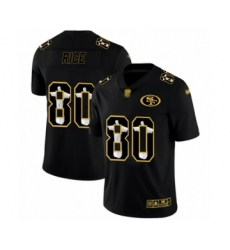 Men's San Francisco 49ers #80 Jerry Rice Black Jesus Faith Limited Football Jersey