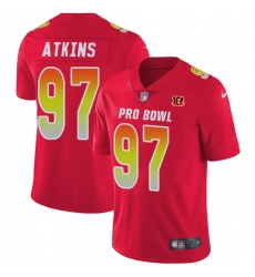 Women's Nike Cincinnati Bengals #97 Geno Atkins Limited Red 2018 Pro Bowl NFL Jersey