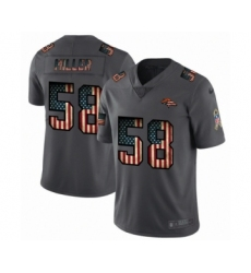 Men's Denver Broncos #58 Von Miller Limited Black USA Flag 2019 Salute To Service Football Jersey