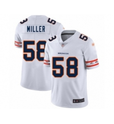 Men's Denver Broncos #58 Von Miller White Team Logo Fashion Limited Football Jersey