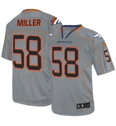 Men's Nike Denver Broncos #58 Von Miller Elite Lights Out Grey NFL Jersey