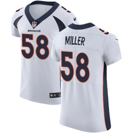5a9f683ce Men s Nike Denver Broncos  58 Von Miller White Vapor Untouchable Elite  Player NFL Jersey