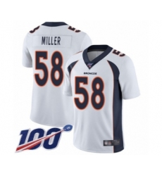 Men's Nike Denver Broncos #58 Von Miller White Vapor Untouchable Limited Player 100th Season NFL Jersey