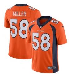 a7cd58f22 Youth Nike Denver Broncos  58 Von Miller Elite Orange Team Color NFL Jersey