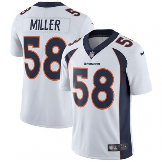 Youth Nike Denver Broncos  58 Von Miller Elite White NFL Jersey ... 863395963