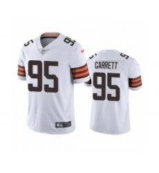 Cleveland Browns #95 Myles Garrett White 2020 Vapor Limited Jersey