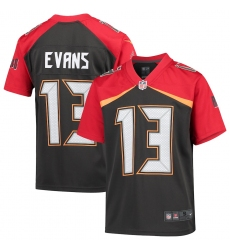 Youth Tampa Bay Buccaneers #13 Mike Evans Nike Pewter Inverted Game Jersey