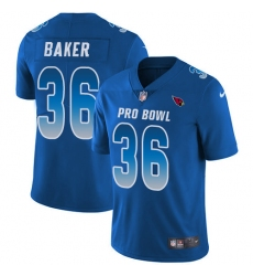 Women's Nike Arizona Cardinals #36 Budda Baker Limited Royal Blue 2018 Pro Bowl NFL Jersey