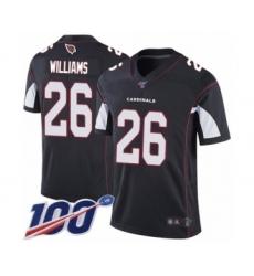 Men's Arizona Cardinals #26 Brandon Williams Black Alternate Vapor Untouchable Limited Player 100th Season Football Jersey