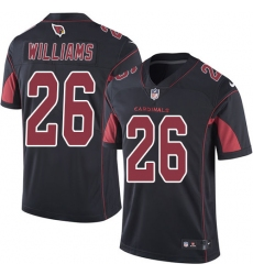 Men's Nike Arizona Cardinals #26 Brandon Williams Elite Black Rush Vapor Untouchable NFL Jersey