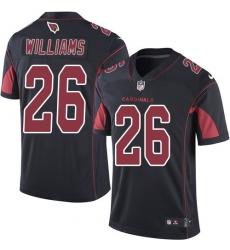 Men's Nike Arizona Cardinals #26 Brandon Williams Limited Black Rush Vapor Untouchable NFL Jersey