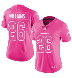 Women's Nike Arizona Cardinals #26 Brandon Williams Limited Pink Rush Fashion NFL Jersey