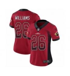Women's Nike Arizona Cardinals #26 Brandon Williams Limited Red Rush Drift Fashion NFL Jersey