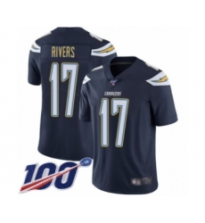 Youth Nike Los Angeles Chargers #17 Philip Rivers Navy Blue Team Color Vapor Untouchable Limited Player 100th Season NFL Jersey