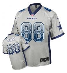 Men's Nike Dallas Cowboys #88 Dez Bryant Elite Grey Drift Fashion NFL Jersey