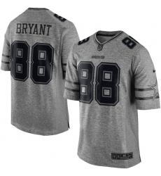 Men's Nike Dallas Cowboys #88 Dez Bryant Limited Gray Gridiron NFL Jersey