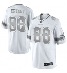 Men's Nike Dallas Cowboys #88 Dez Bryant Limited White Platinum NFL Jersey