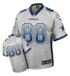Youth Nike Dallas Cowboys #88 Dez Bryant Elite Grey Drift Fashion NFL Jersey