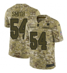 Youth Nike Dallas Cowboys #54 Jaylon Smith Limited Camo 2018 Salute to Service NFL Jersey