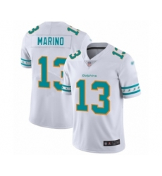 Men's Miami Dolphins #13 Dan Marino White Team Logo Fashion Limited Football Jersey