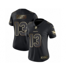Women's Miami Dolphins #13 Dan Marino Black Gold Vapor Untouchable Limited Football Jersey