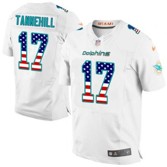 premium selection 439b1 fccb8 Men's Nike Miami Dolphins #17 Ryan Tannehill Elite White ...