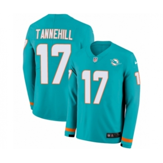 Wholesale Men's Nike Miami Dolphins #17 Ryan Tannehill Limited Aqua Therma  supplier