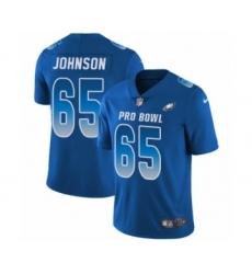 91fdd2a5876 Men's Philadelphia Eagles #65 Lane Johnson Limited Royal Blue NFC 2019 Pro  Bowl Football Jersey