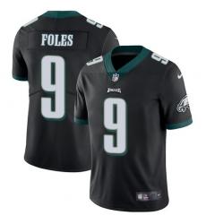 Men's Nike Philadelphia Eagles #9 Nick Foles Black Alternate Vapor Untouchable Limited Player NFL Jersey