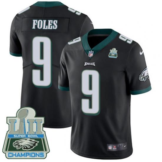 Men s Nike Philadelphia Eagles  9 Nick Foles Black Alternate Vapor  Untouchable Limited Player Super Bowl 06ca30480