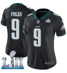 Women's Nike Philadelphia Eagles #9 Nick Foles Black Alternate Vapor Untouchable Limited Player Super Bowl LII NFL Jersey
