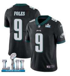 Youth Nike Philadelphia Eagles #9 Nick Foles Black Alternate Vapor Untouchable Limited Player Super Bowl LII NFL Jersey