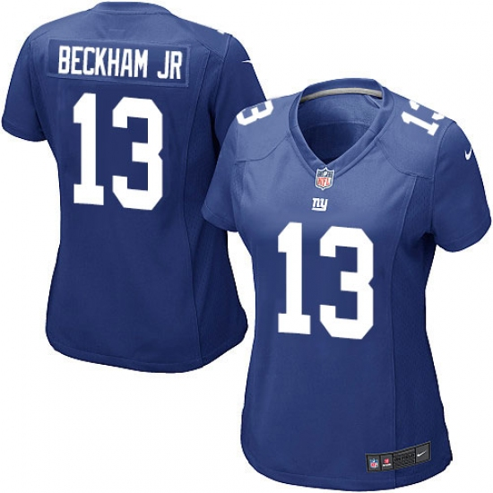 Women s Nike New York Giants  13 Odell Beckham Jr Game Royal Blue Team Color  NFL 66aa78d28