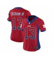 Women's Nike New York Giants #13 Odell Beckham Jr Limited Red Rush Drift Fashion NFL Jersey