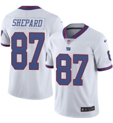 Men s Nike New York Giants  87 Sterling Shepard Limited White Rush Vapor  Untouchable NFL Jersey 865adf4fe