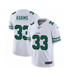 Men's New York Jets #33 Jamal Adams Limited White Team Logo Fashion Football Jersey