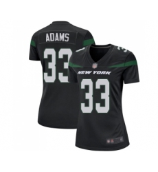 Women's New York Jets #33 Jamal Adams Game Black Alternate Football Jersey