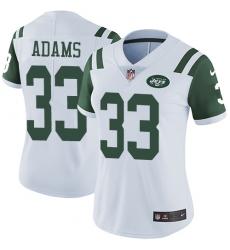 Women's Nike New York Jets #33 Jamal Adams White Vapor Untouchable Limited Player NFL Jersey