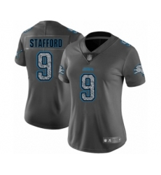 Women's Detroit Lions #9 Matthew Stafford Limited Gray Static Fashion Football Jersey