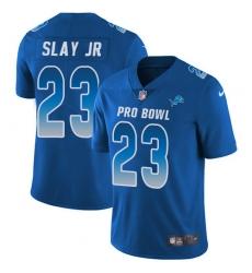 Women's Nike Detroit Lions #23 Darius Slay Limited Royal Blue 2018 Pro Bowl NFL Jersey
