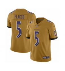 Youth Baltimore Ravens #5 Joe Flacco Limited Gold Inverted Legend Football Jersey