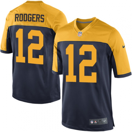 Men s Nike Green Bay Packers  12 Aaron Rodgers Game Navy Blue Alternate NFL  Jersey ac17c0c0a