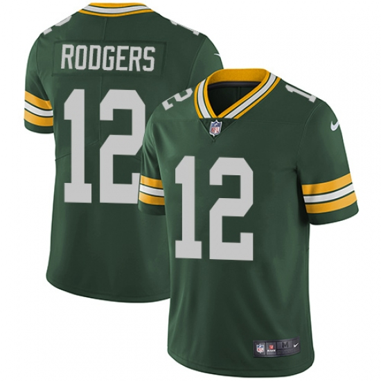 big sale 1725d cc262 Men's Nike Green Bay Packers #12 Aaron Rodgers Green Team ...