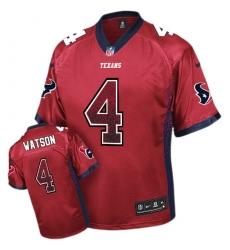 Men's Nike Houston Texans #4 Deshaun Watson Elite Red Drift Fashion NFL Jersey